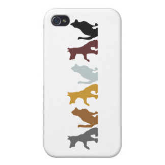Cats and Dogs cartoon pattern Cover For iPhone 4