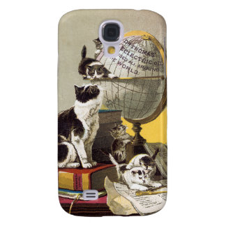 Cats and Globe Galaxy S4 Case