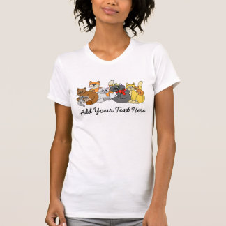 Cats and Kittens Design T-Shirt
