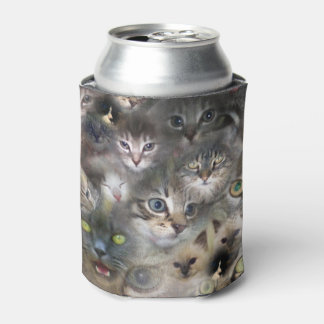 Cats And Kittens In A Colorful Cat Collage, Can Cooler
