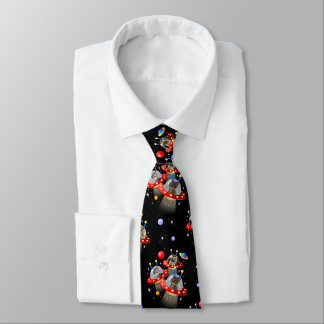 Cats and Kittens in UFOs spaceships flying saucers Tie