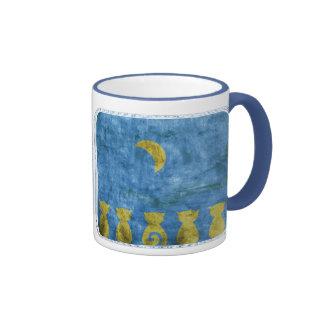 Cats and Moon - mug