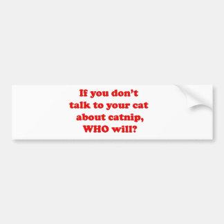 cats and pets bumper sticker