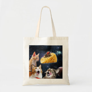 Cats and the mouse on the cheese budget tote bag