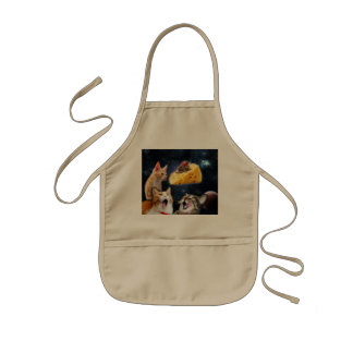 Cats and the mouse on the cheese kids apron