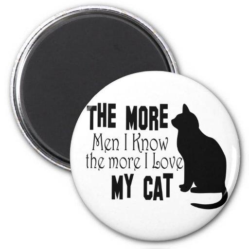 Cats Are Better than Men Fridge Magnets