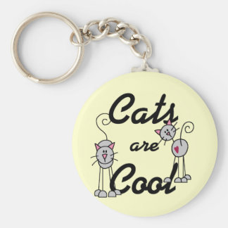 Cats Are Cool Tshirts and Gifts Key Chain