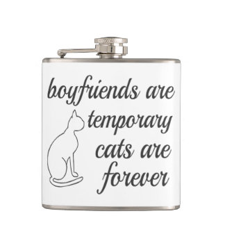 Cats Are Forever Quote Hip Flask