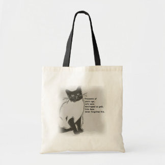 Cats are Gods Budget Tote Bag