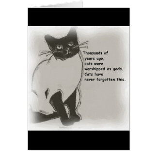 Cats are Gods Greeting Card