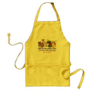 Cats are like potato chips apron