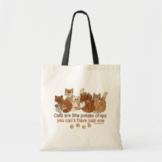 Cats are like potato chips Design Budget Tote Bag