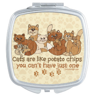 Cats are like potato chips Grunge Version Makeup Mirrors