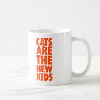 Cats Are The New Kids Basic White Mug