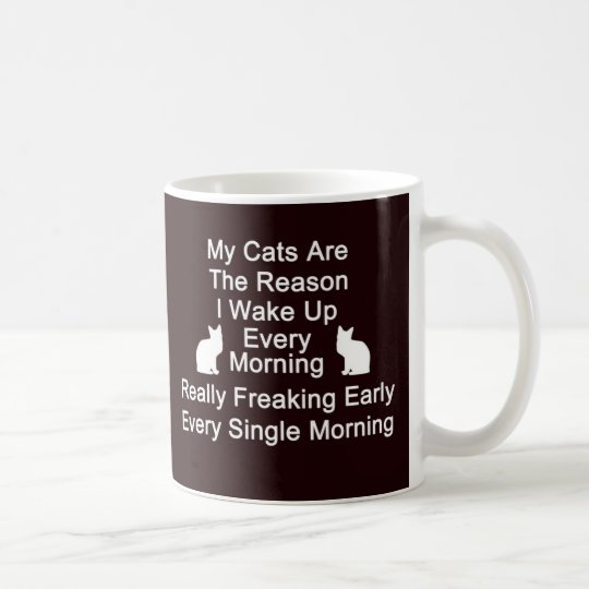 Cats Are The Reason Coffee Mug-Black Coffee Mug