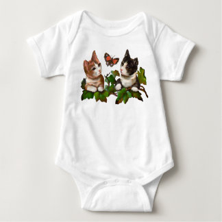 Cats at play baby bodysuit