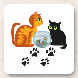 Cats At Play Beverage Coasters