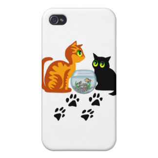 Cats At Play iPhone 4/4S Cases