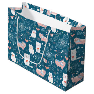 Cats, Birds & Hearts Gift Bag (Large)