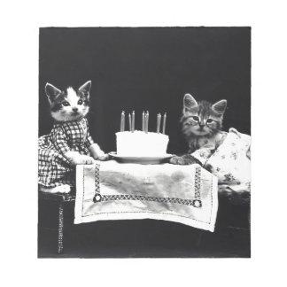 Cats birthday notepad