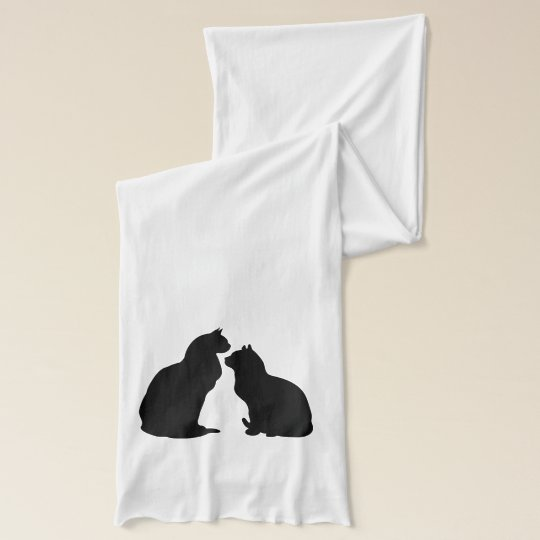 Cats black cat silhouette scarf Halloween