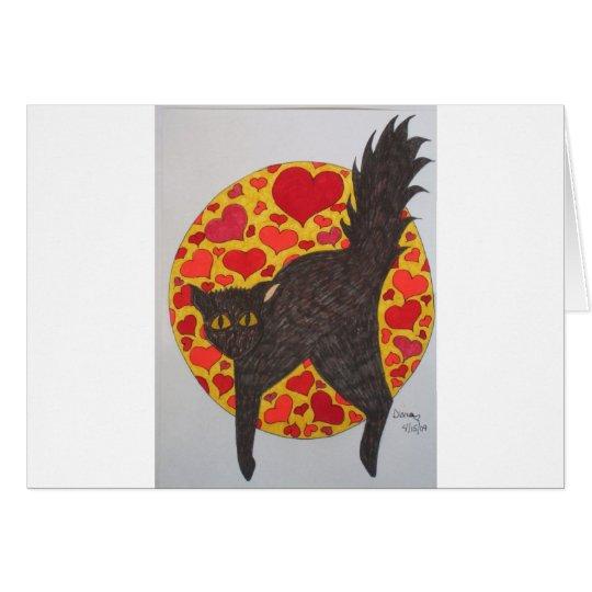 Cats - Black Hearts Card