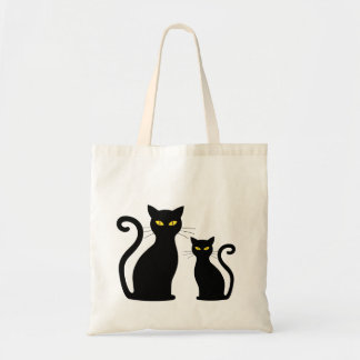 Cats Cateye Black Cat Kitten Kittens Tote Bag