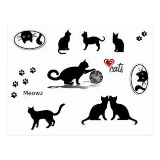 Cats Cats Cats Postcard