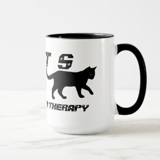 Cats:  Cheaper Than Therapy Coffee Mugs