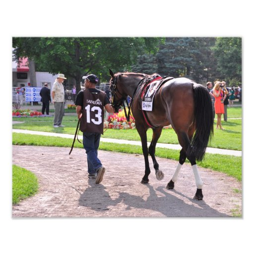 Cat's Claw wins the Waya Stakes Photographic Print