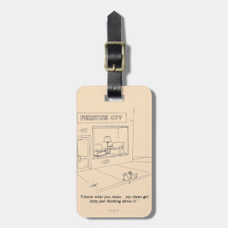 Cats Clawing Furniture Luggage Tag