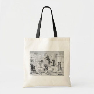 Cats Cleaning in Spring, Louis Wain Tote Bag