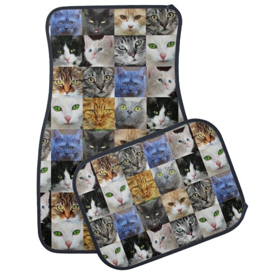 Cats Collage Car Mat Set