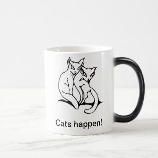 Cats couple in love original drawing morphing mug