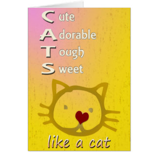 Cats Customizable Greeting Cards