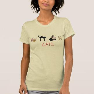 cats, cutesy cat design t shirt