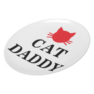 Cats Daddy Plate