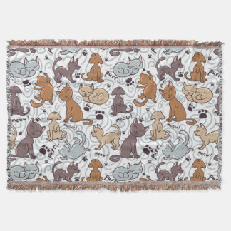 Cats Daily Life Throw Blanket