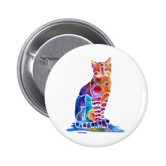 CATS DANCING COLORS 6 CM ROUND BADGE
