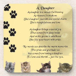Cats Design - Daughter Poem Coaster
