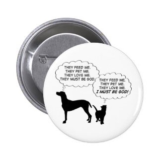 Cats & Dogs 6 Cm Round Badge