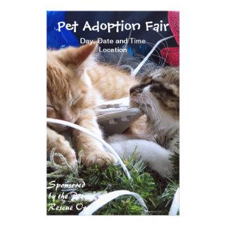 Cats Dogs Animals Adoption Event, Save a Pet Fair 14 Cm X 21.5 Cm Flyer