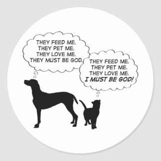 Cats & Dogs Classic Round Sticker