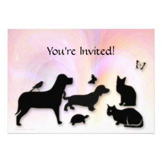 Cats Dogs Etc Animal Silhouettes Invitation