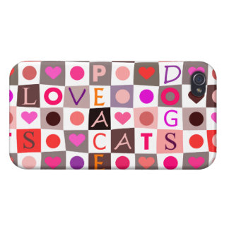 Cats & Dogs Love iPhone 4 Cover