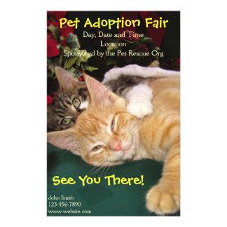 Cats & Dogs Rescue Event, Pet Animal Adoption 14 Cm X 21.5 Cm Flyer