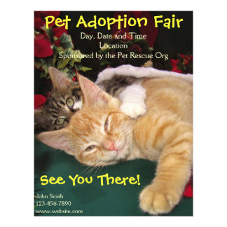 Cats & Dogs Rescue Event, Pet Animal Adoption 21.5 Cm X 28 Cm Flyer