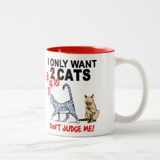 CATS - Don't Judge Me! Coffee Mug