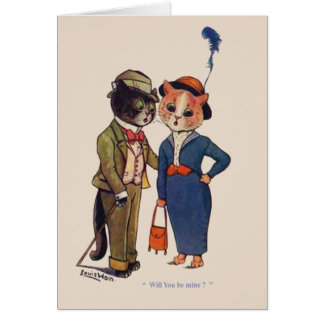 Cat's Engagement Greeting Card