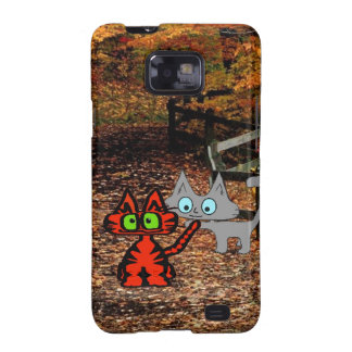 Cats Enjoying A Fall Day Galaxy SII Cover